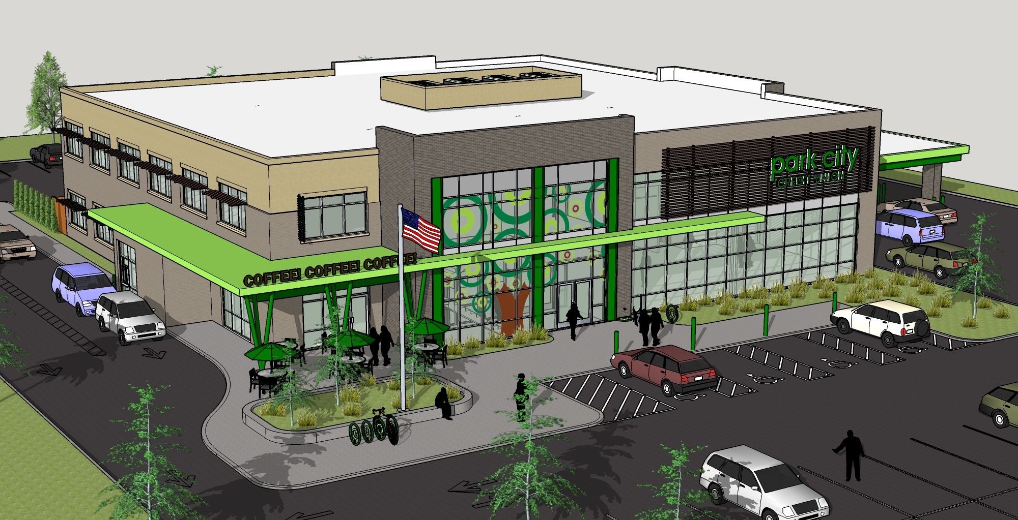 Park City Credit Union Exterior Rendering